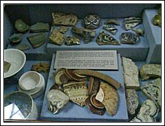 Fragmen Keramik Trowulan di Museum Nasional pada tahun 2009