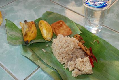 Nasi intil makanan khas Kebumen dari kecamatan Alian