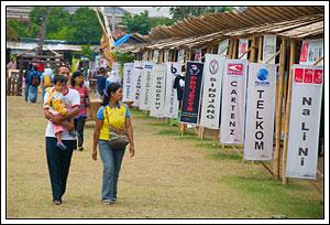 Sejumlah stan sponsor SIEM Expo 2008