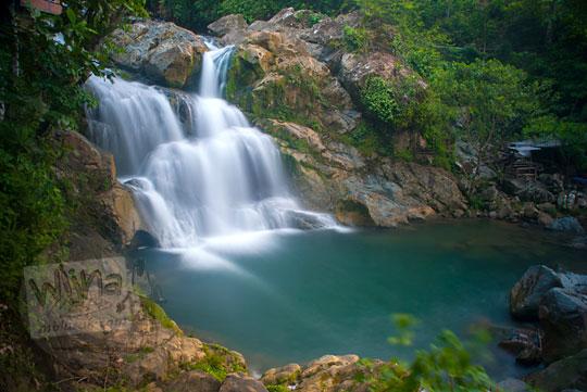 pemandangan Air Terjun Suhom (Seuhom) di Krueng Kala, Lhoong, Aceh Besar saat masih sepi dan belum terkenal
