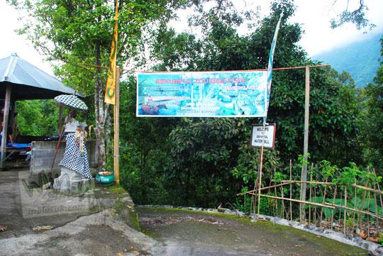 foto spanduk wisata air terjun sekumpul buleleng zaman dulu pada april 2013