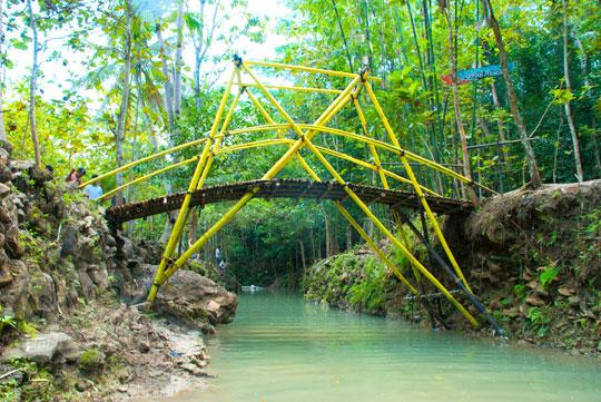 Mitos jembatan cinta yang melintasi area kolam Kedung Pengilon di Desa Bangunjiwo, Kasihan, Bantul, Yogyakarta adalah barangsiapa pasangan yang menyebrang bersama-sama maka kisah cinta mereka akan langgeng sampai tua