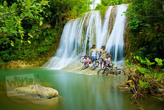 keindahan curug Jurang Pulosari di desa wisata Krebet, Pajangan, Bantul yang belum terkenal
