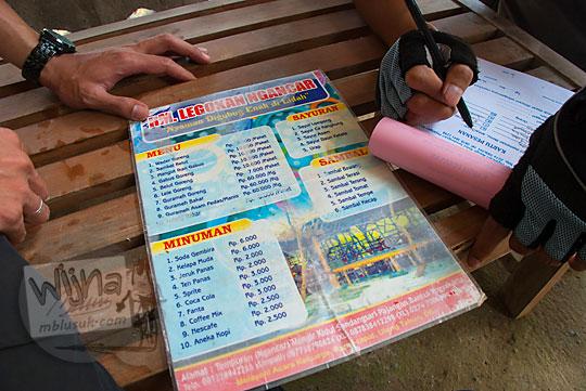 Daftar dan harga menu di Rumah Makan Legokan Ngancar di Sendangsari, Pajangan, Bantul, Yogyakarta