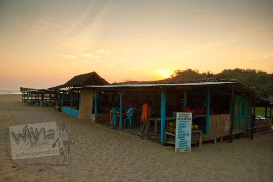 warung makan pantai drini di desa tanjungsari gunungkidul yogyakarta pada zaman dulu agustus 2012