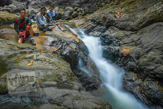 Lokasi foto sungai indah di Dusun Kalingiwo, Desa Pendoworejo di Kecamatan Girimulyo, Kulon Progo pada zaman dulu April 2014