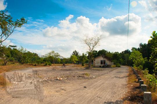 foto bekas lokasi tambang pasir kali progo di bendungan karang talun magelang pada tahun 2012
