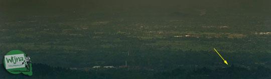 foto bentang alam dilihat dari puncak bukit menoreh yang ada di desa giripurno magelang jawa tengah