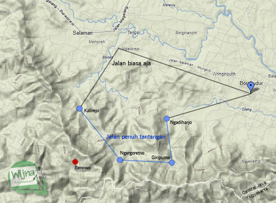 foto rute bersepeda pekok keliling borobudur lewat perbukitan menoreh pada Juli 2012