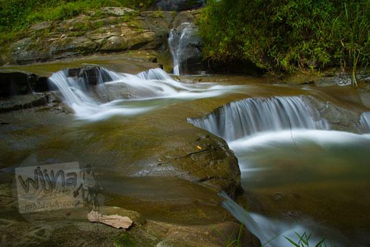 Aliran Sungai Kedung Gulo yang fotogenik di Desa Kalitapas, Kecamatan Bener, Kabupaten Purworejo, Jawa Tengah