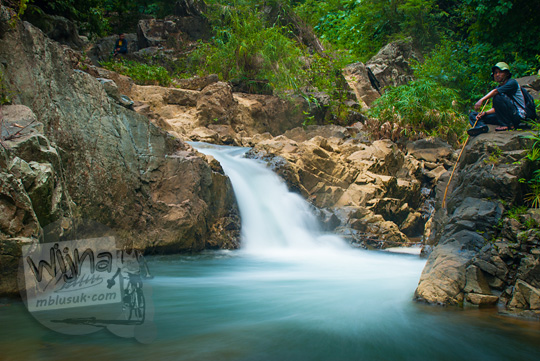 Rute ke Air Terjun (curug) Kedung Kuali di Dusun Kedungrante Purworejo