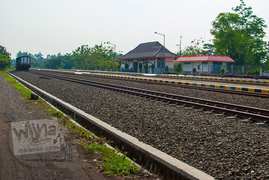 Pemandangan Stasiun Patukan, Ambarketawang, Gamping, Yogyakarta di masa lampau