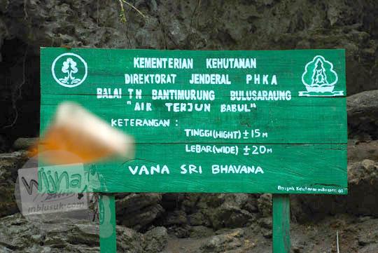 Air Terjun Babul yang ada di kawasan Taman Nasional Bantimurung-Bulusaraung