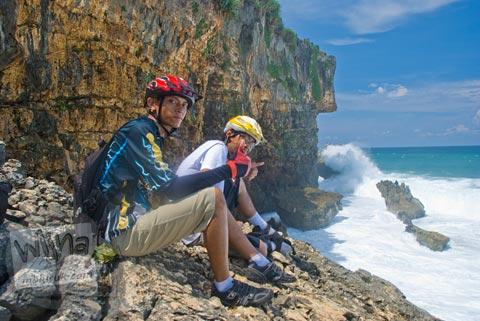 Rute bersepeda ke Pantai Ngobaran Gunungkidul dari kota Jogja