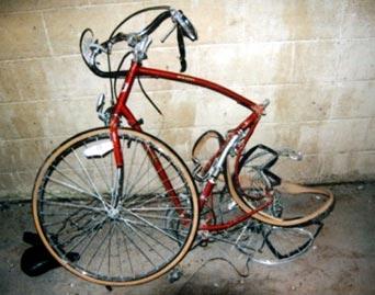 sepeda rusak