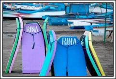 Sewa Pelampung Alat Renang di Pantai Pangandaran bulan Desember 2008