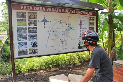 Peta desa wisata Sorowulan yang informatif