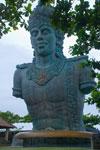 Foto Patung Wisnu di Taman Garuda Wisnu Kencana Bali pada Februari 2009