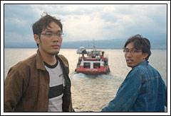 Foto Babe Joko dan Babe Winky diatas kapal ferry di Bali Februari 2009