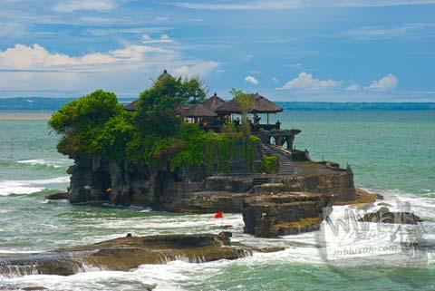 Foto Pura Agung Tanah Lot di Hari Pertama Keliling Bali pada Februari 2009