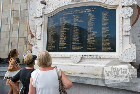 Foto Monumen Bom Bali di Hari Pertama Keliling Bali pada Februari 2009