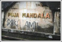 Foto Ulah Vandalisme di Bali pada Februari 2009