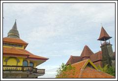 Foto Hidup berdampingan Muslim dan Hindu di Bali pada Februari 2009