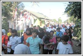 suasana gerak jalan perayaan 17 agustus di desa Kebondalem Kidul, Prambanan, Klaten