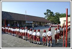 upacara bendera SD Negeri 1 Kebondalem Kidul, Prambanan, Klaten di zaman dulu