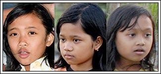 Foto Dimar, Nurfitri, dan Nurita Anak-anak desa Kebondalem Kidul, Prambanan