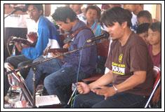 Band lokal mahasiswa KKN pada tahun 2008