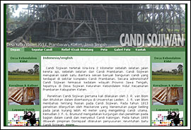 Foto Screenshot Website Candi Sojiwan