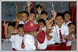 siswa-siswi SD Negeri 1 Kebondalem Kidul, Prambanan di tahun 2008