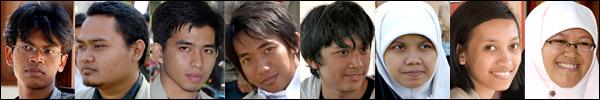 Foto mahasiswa subunit 1 Banjarsari KKN-PPM UGM Unit 80 tahun 2008 di desa Kebondalem Kidul, Prambanan, Klaten, Jawa Tengah
