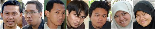 Foto mahasiswa subunit 2 Kadipaten KKN-PPM UGM Unit 80 tahun 2008 di desa Kebondalem Kidul, Prambanan, Klaten, Jawa Tengah