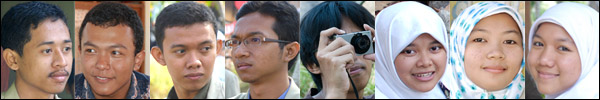 Foto mahasiswa subunit 3 Sentul KKN-PPM UGM Unit 80 tahun 2008 di desa Kebondalem Kidul, Prambanan, Klaten, Jawa Tengah