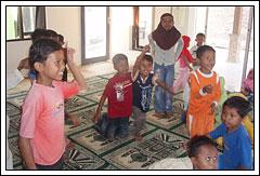 suasana TPA di Masjid Al-Hasan, desa Kebondalem Kidul, Prambanan, Jawa Tengah