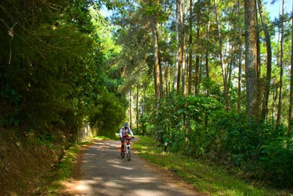 tanjakan putus asa menuju Warung Bandrek Sepeda di Bandung